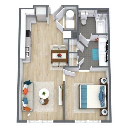 one bedroom floorplans
