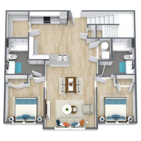 E1 Townhouse - First Floor