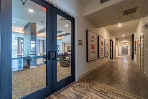 Door, Hallway, Edge on Washington