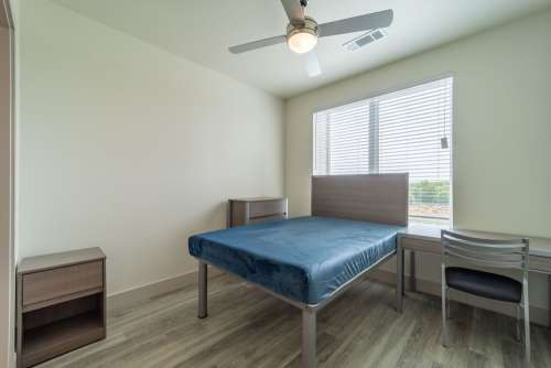 Bedroom with Bed and Desk
