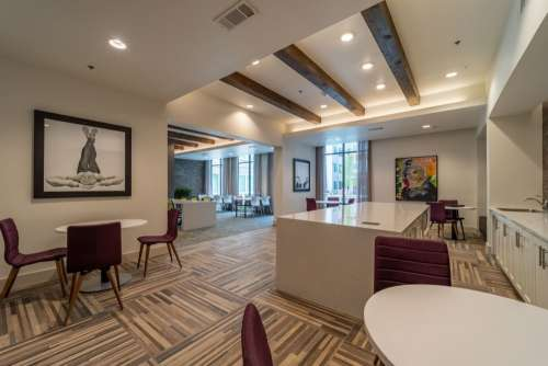 the edge lounge area with study tables